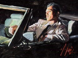 Late Ride II (Black Car) by Fabian Perez -  sized 16x12 inches. Available from Whitewall Galleries
